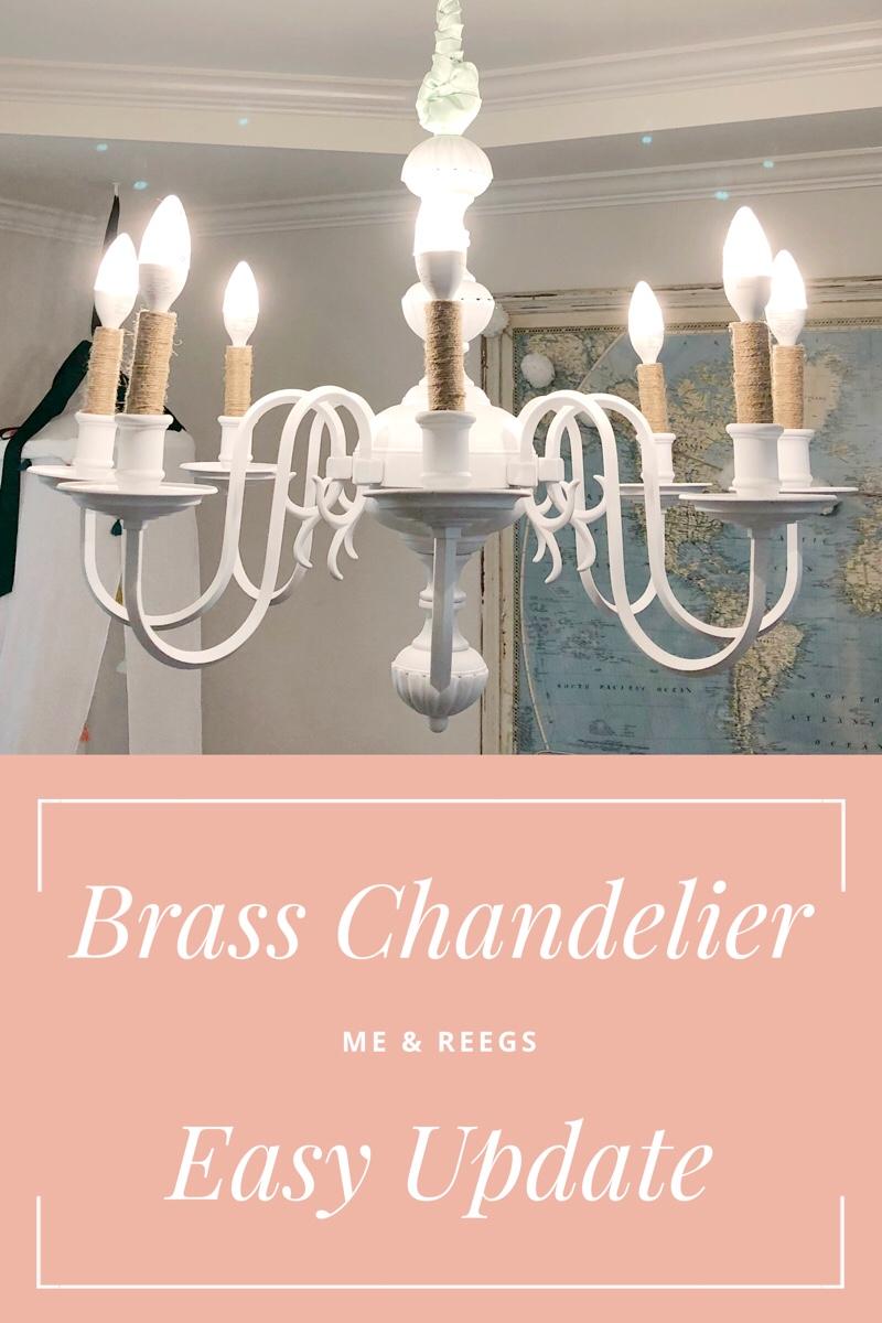 Brass Chandelier Makeover Diy Me And Reegs Brass Chandelier Update