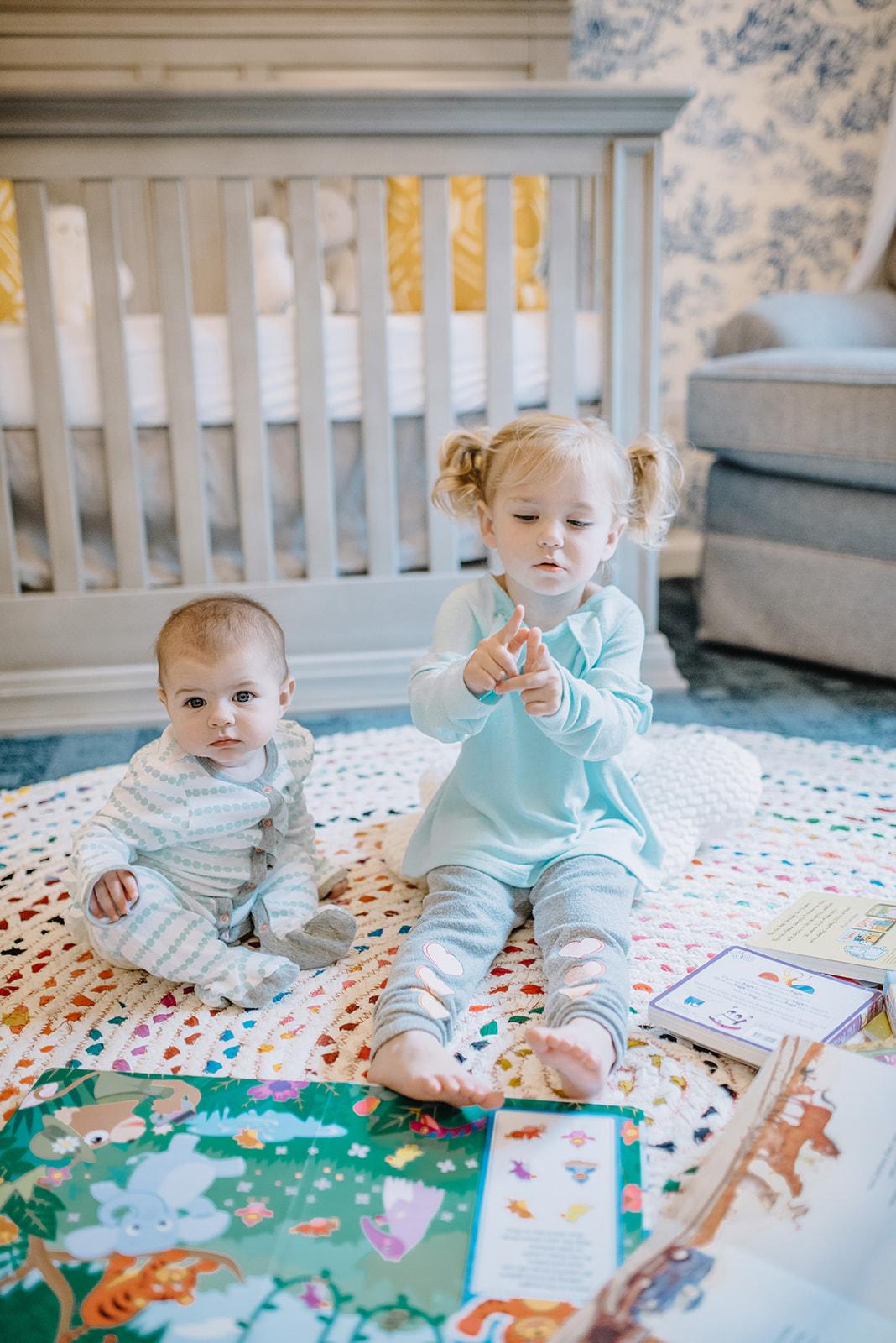 Nursery Tour Toile Wallpaper Diy Target